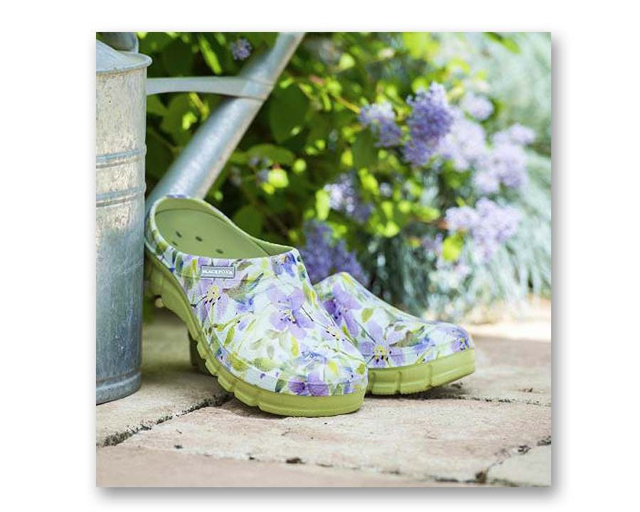 Lily Clog in Lime - by Blackfox of France
