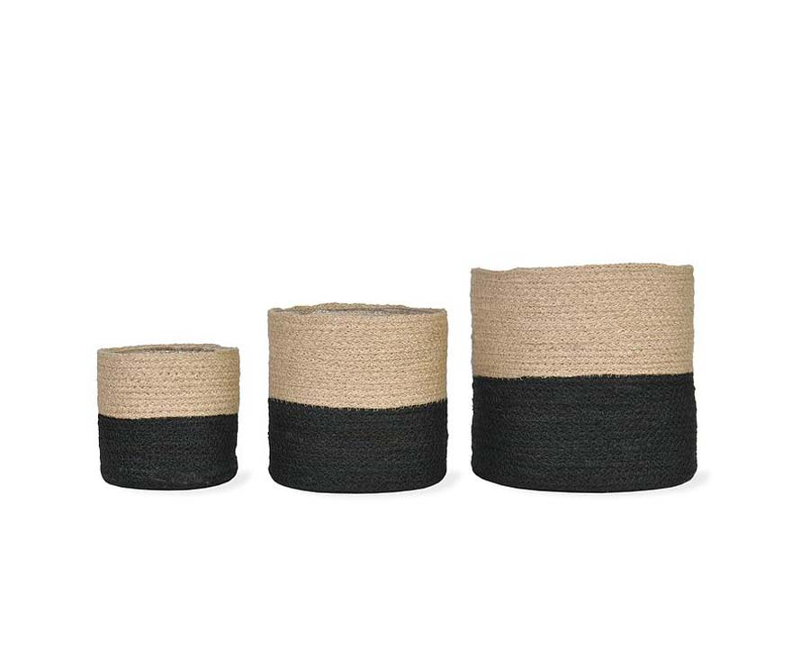 Jute Pots, set of three