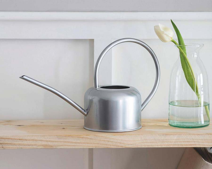 Indoor Watering Can 1.1 litres - Silver Finish