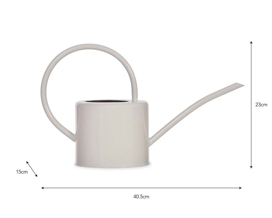 Indoor Watering Can 1.9l - Chalk finish - with dimensions
