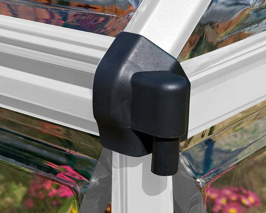 6'x6' WalkIn Greenhouse (185cms x 186cms x 208cms) - integral gutter system