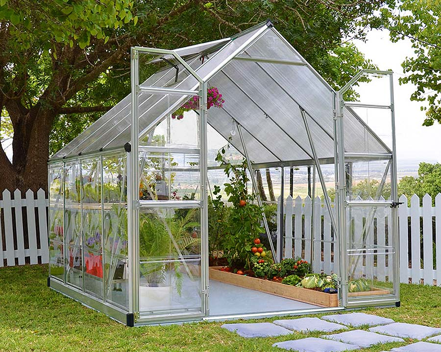 Walk-In Greenhouse 8'x8' 244cm (W) x  247cm (L) x  229cm (at highest point)