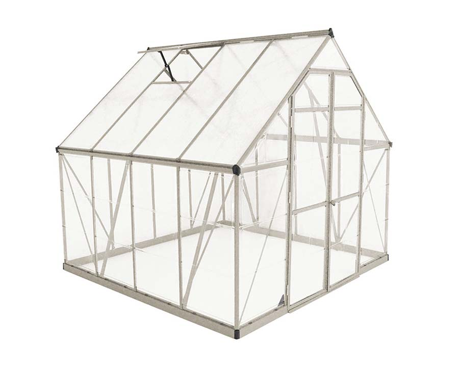 Walk-In Greenhouse 8'x8' 244cm (W) x  247cm (L) x  229cm