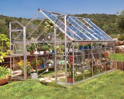 8x12 Tall walk-In Greenhouse (244x367x229cms)