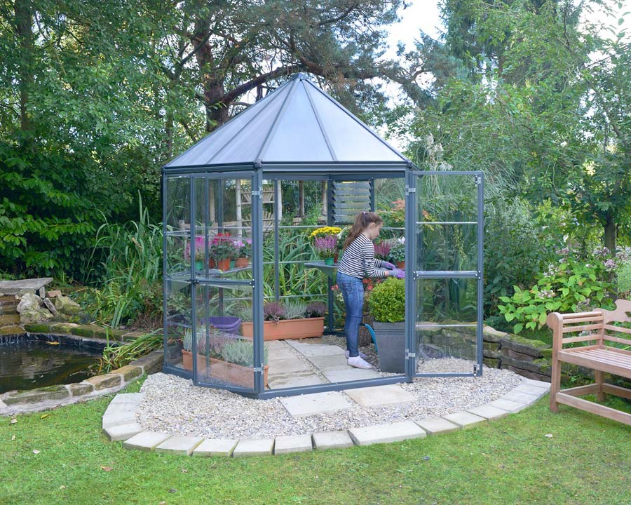Oasis Hex 8' Greenhouse