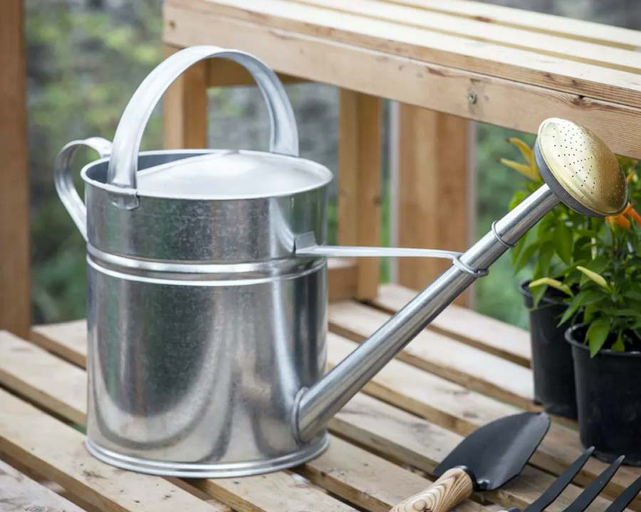 10 litre Galvanised Watering Can by Garden Trading