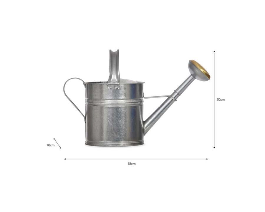 Dimensions of 5l Galvanised Watering Can by Garden Trading