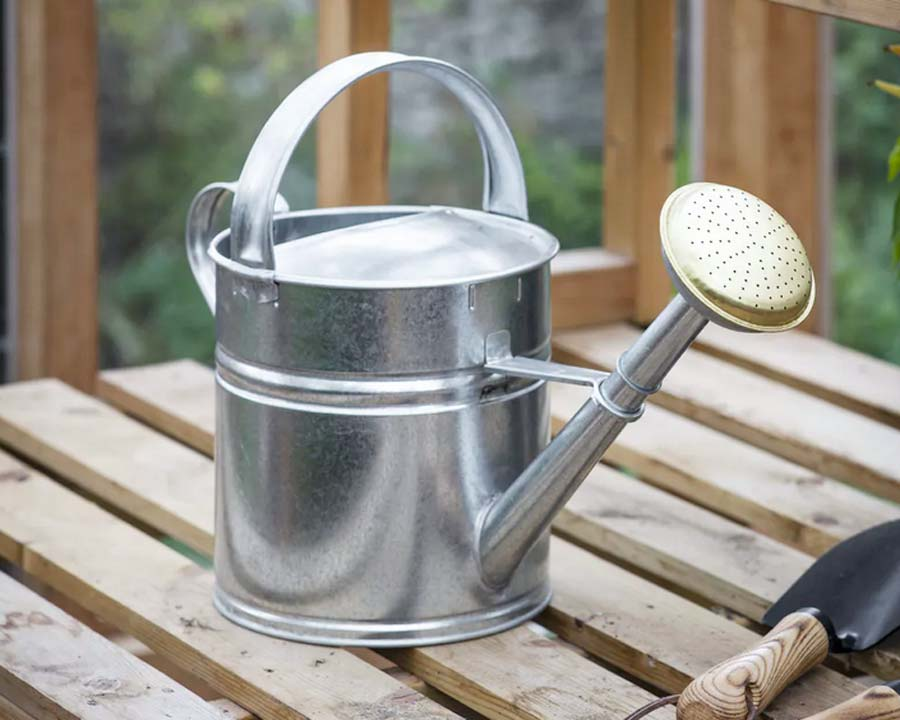 5l Galvanised Watering Can by Garden Trading