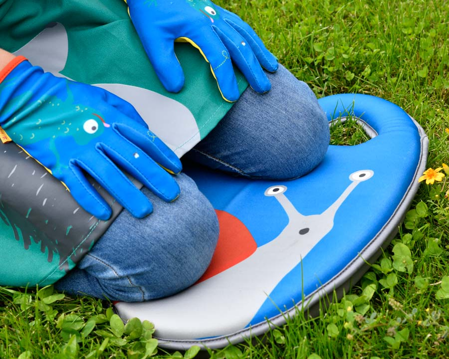 Children's Kneeler Snail design - part of the 'Get me Gardening' range by the National Trust