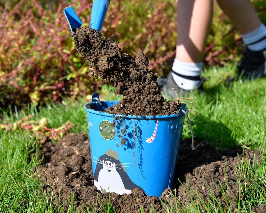 Children's 'Get Me Gardening' bucket by National Trust and Burgon and Ball