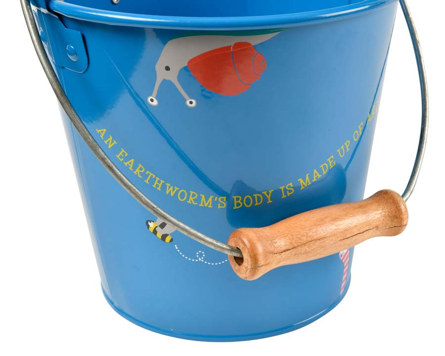 Children's gardening bucket with wooden handle National Trust and Burgon and Ball