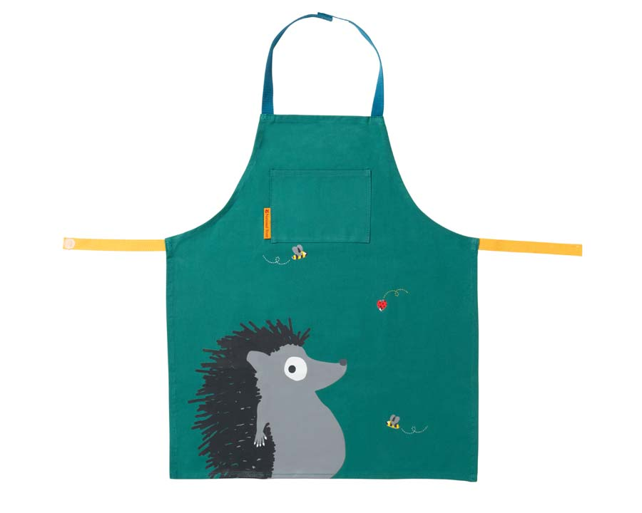 Children's Gardening Apron with Hedgehog design part of the National Trust's 'Get Me Gardening' Children's range