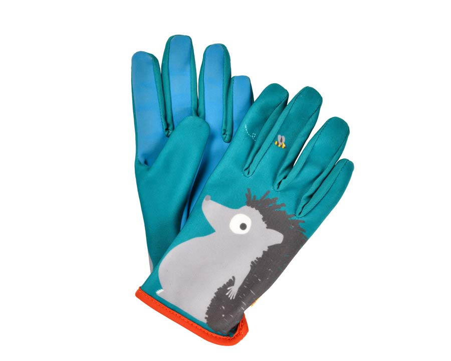 Children's gardening gloves - Hedgehog design part of the National Trust's 'Get them Gardening' range
