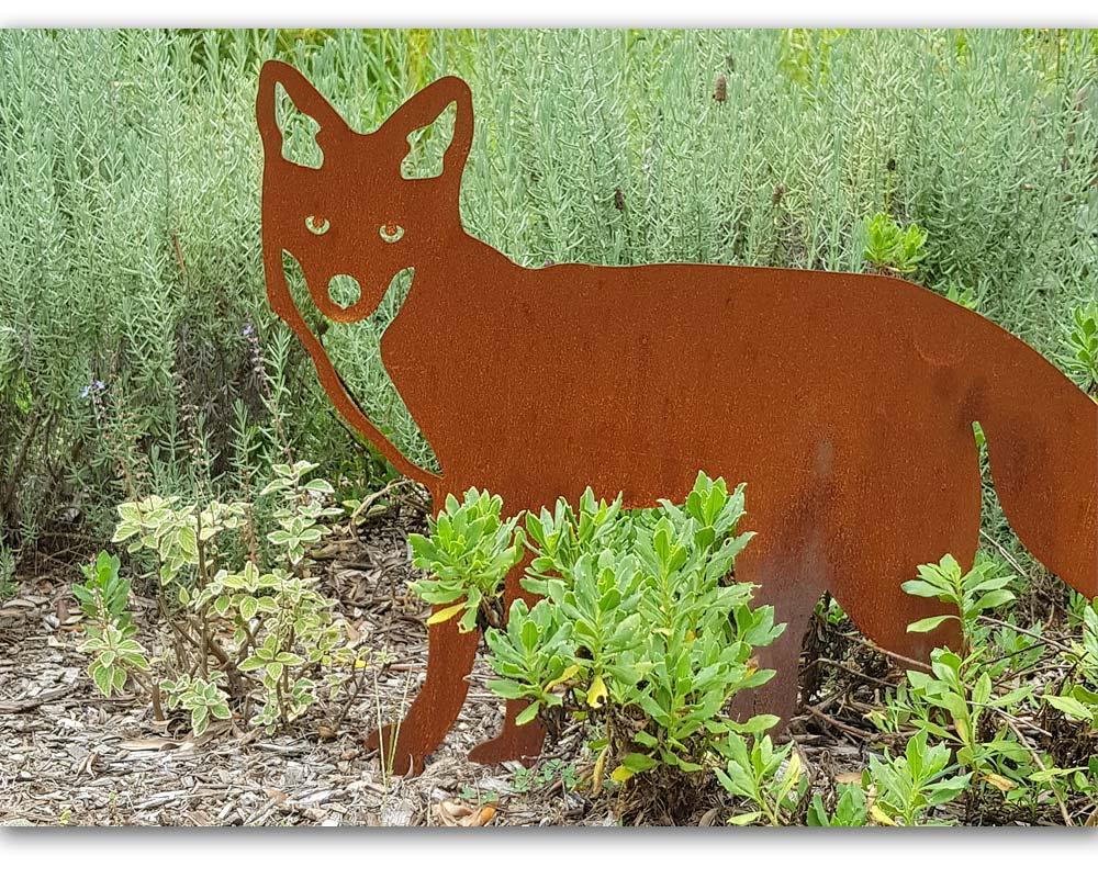 Mr Fox - decorative garden art