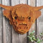 Highland Cow - decorative garden art