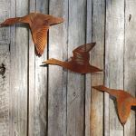 Flying Ducks - decorative garden art