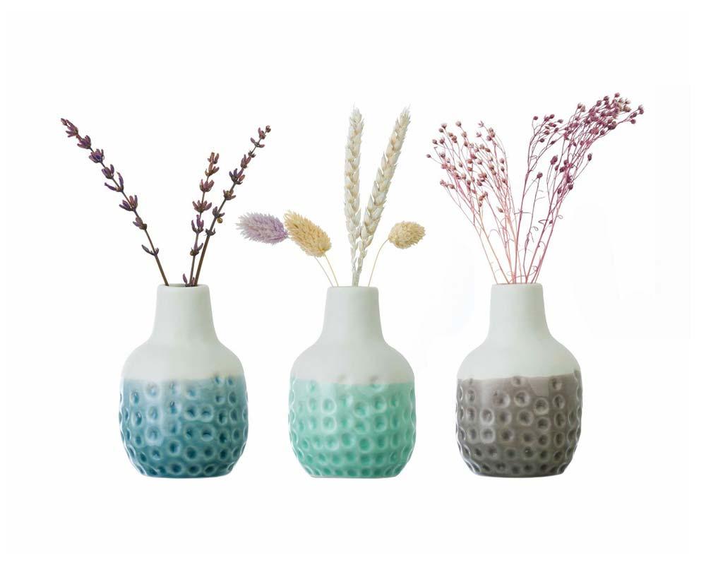 Dotty Mini Vase Trio - Burgon & Ball