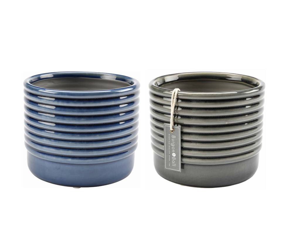 Grey and Blue - Small and Large Sizes - Oslo - Burgon & Ball