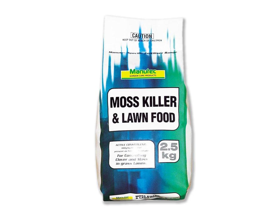 Moss Killer and Lawn Food 2.5kg - Manutec