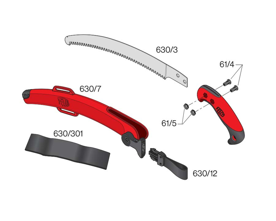 Pull-Saw 33cm in Scabbard Curved - Felco 630