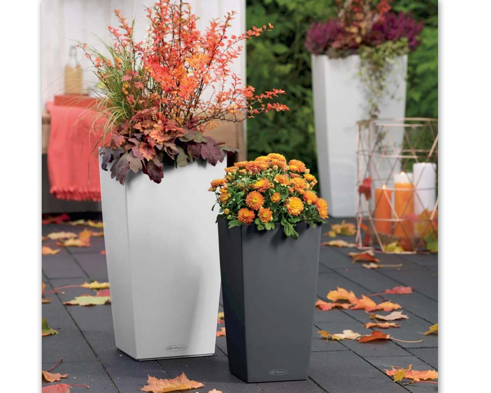 Slate and White - Cubico Color 30 - Self-Watering Pot - Lechuza