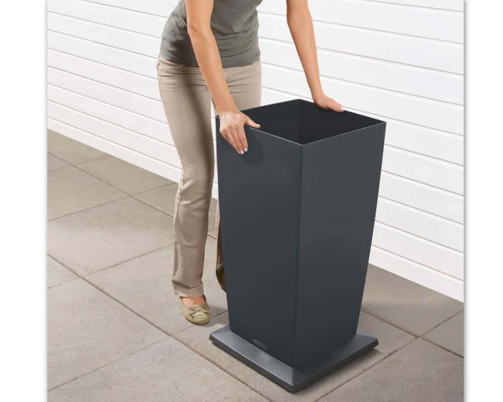 Slate - Cubico Color 30 - Self-Watering Pot - Lechuza