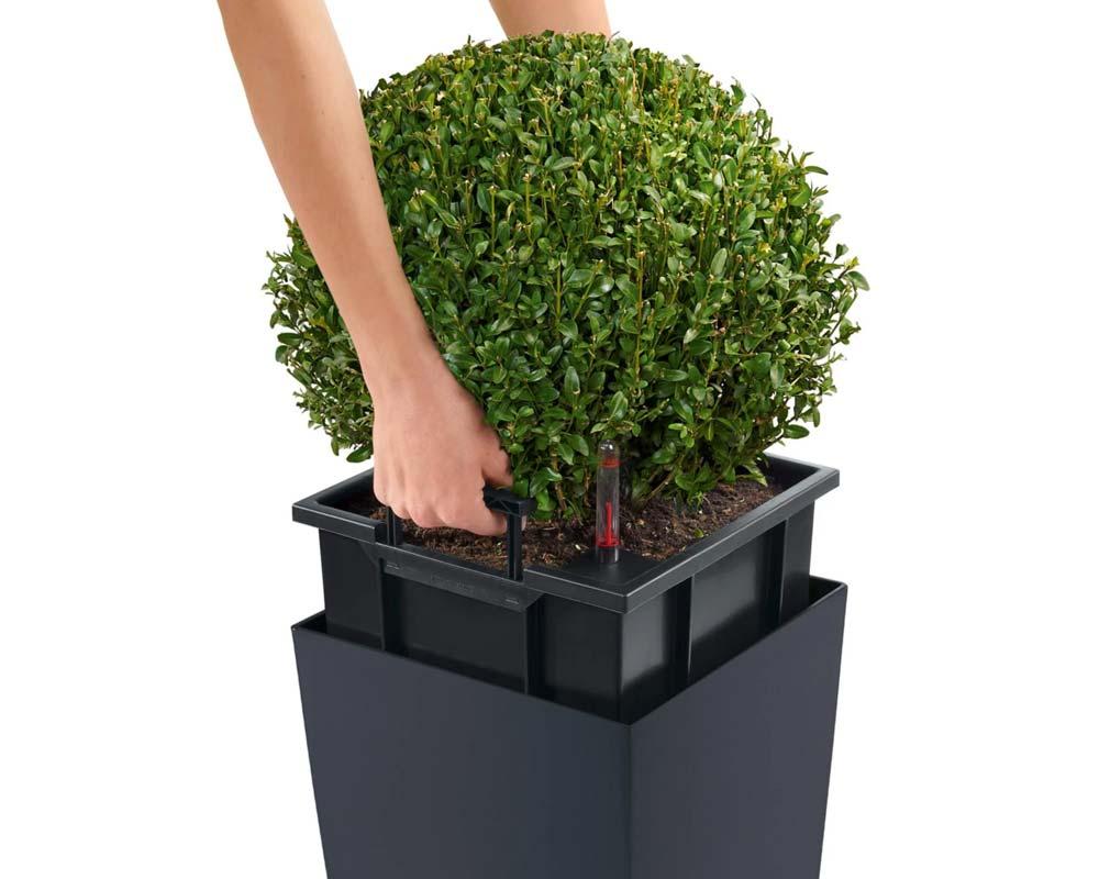 Slate - Cubico Color 40 - Self-Watering Pot - Lechuza
