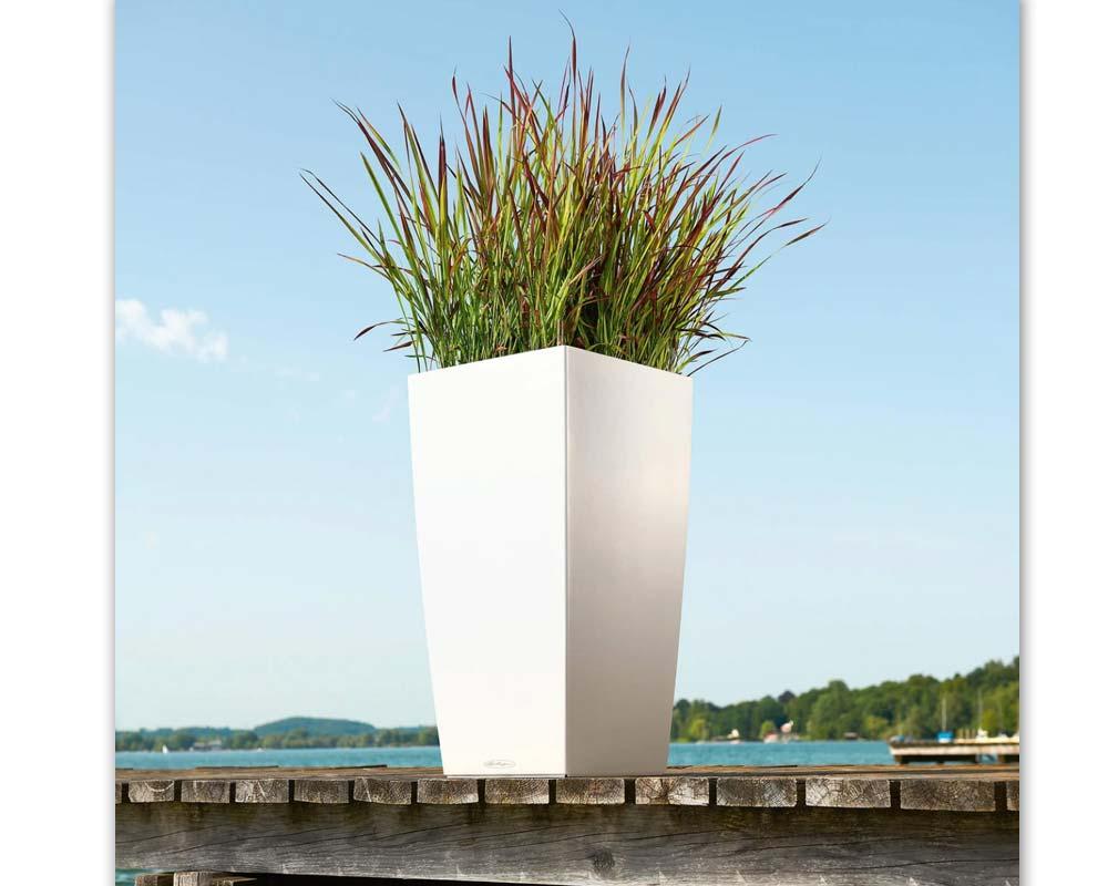 White - Cubico Color 40 - Self-Watering Pot - Lechuza
