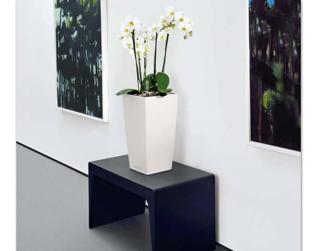 White - Cubico Color 22 - Self-Watering Pot - Lechuza