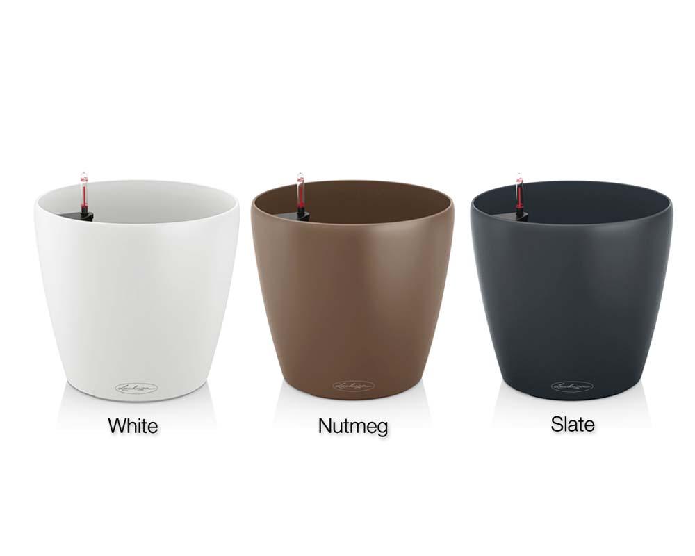 White, Nutmeg and Slate - Classico Color 35 - Self-Watering Pot - Lechuza