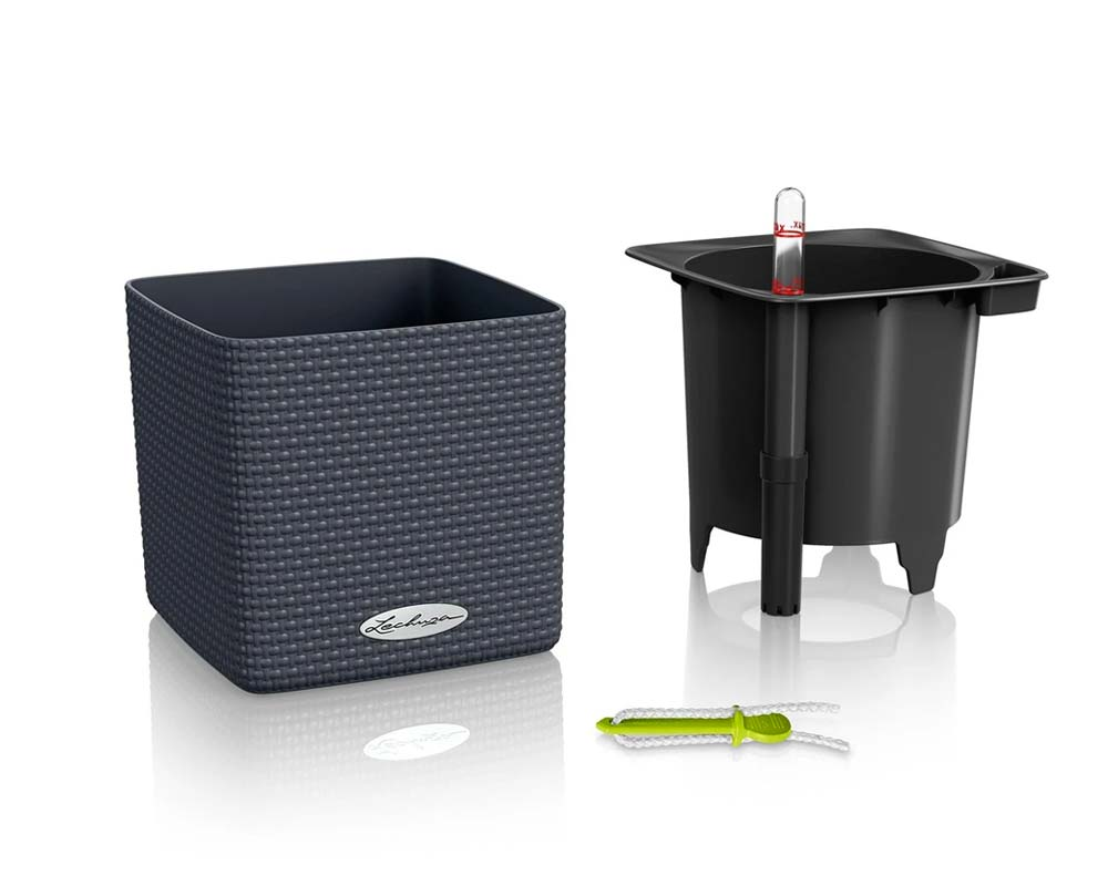 Components - Puro Cube Color 14 - Self-Watering Pot - Lechuza