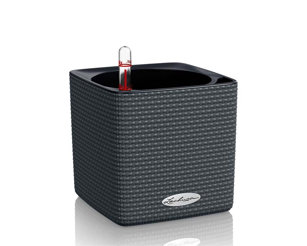 Slate - Puro Cube Color 14 - Self-Watering Pot - Lechuza