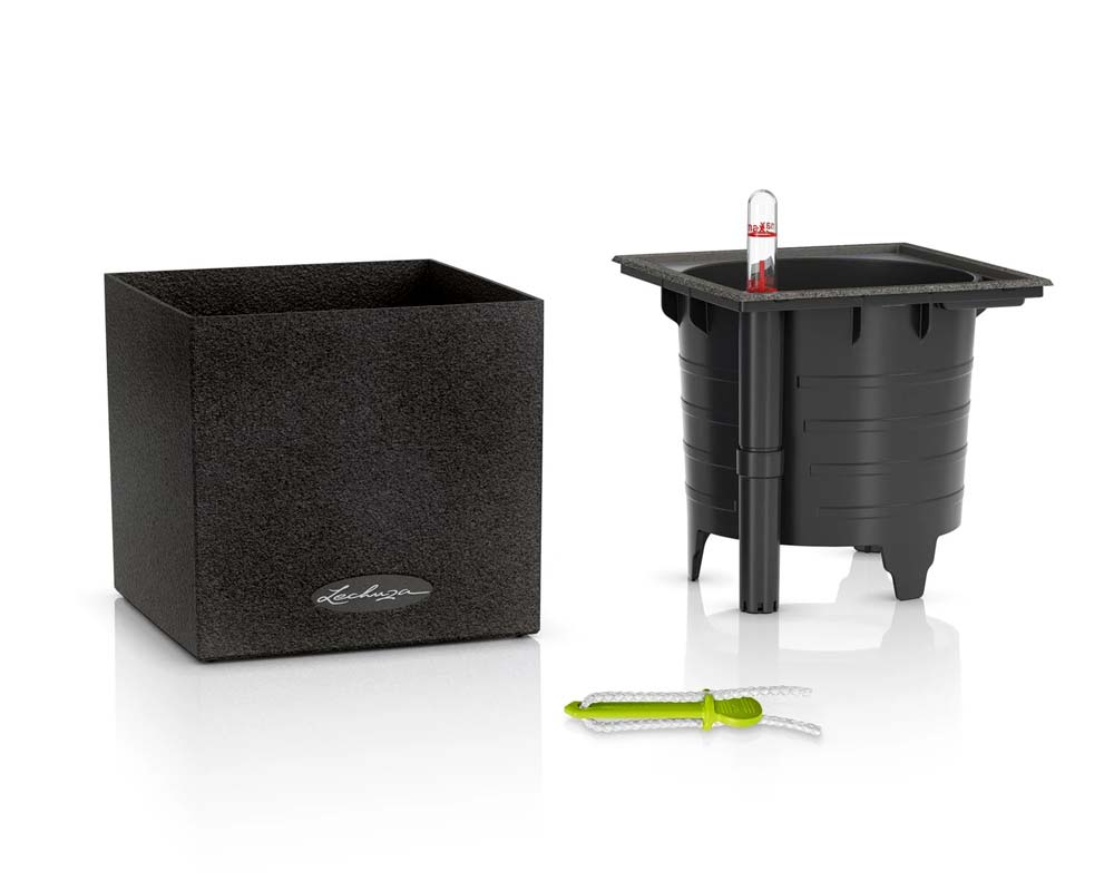 Components - Canto Stone 14 Cube - Self-Watering Pot - Lechuza