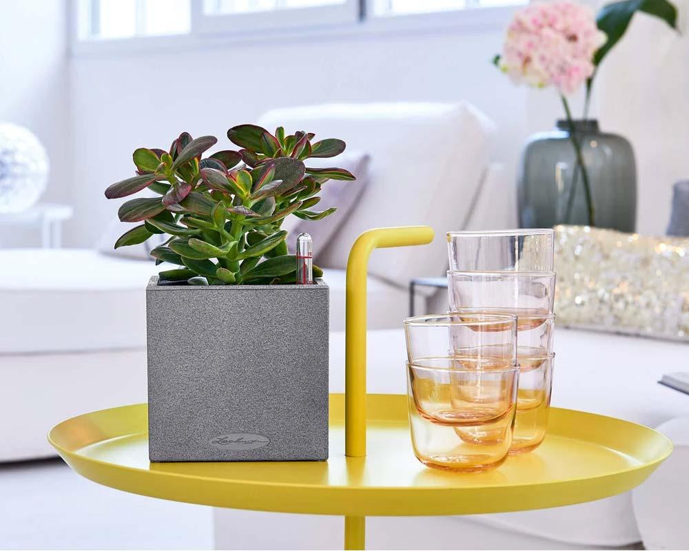 Canto Stone 14 Cube - Self-Watering Pot - Lechuza