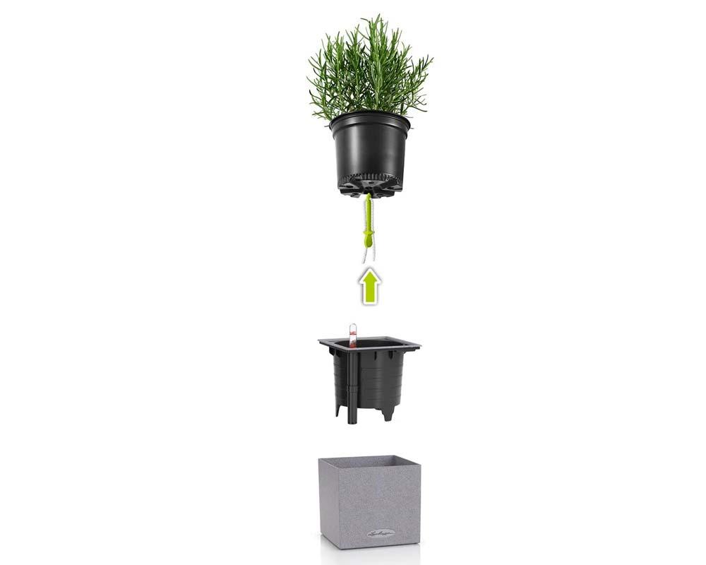 Diagram - Canto Stone 14 Cube - Self-Watering Pot - Lechuza