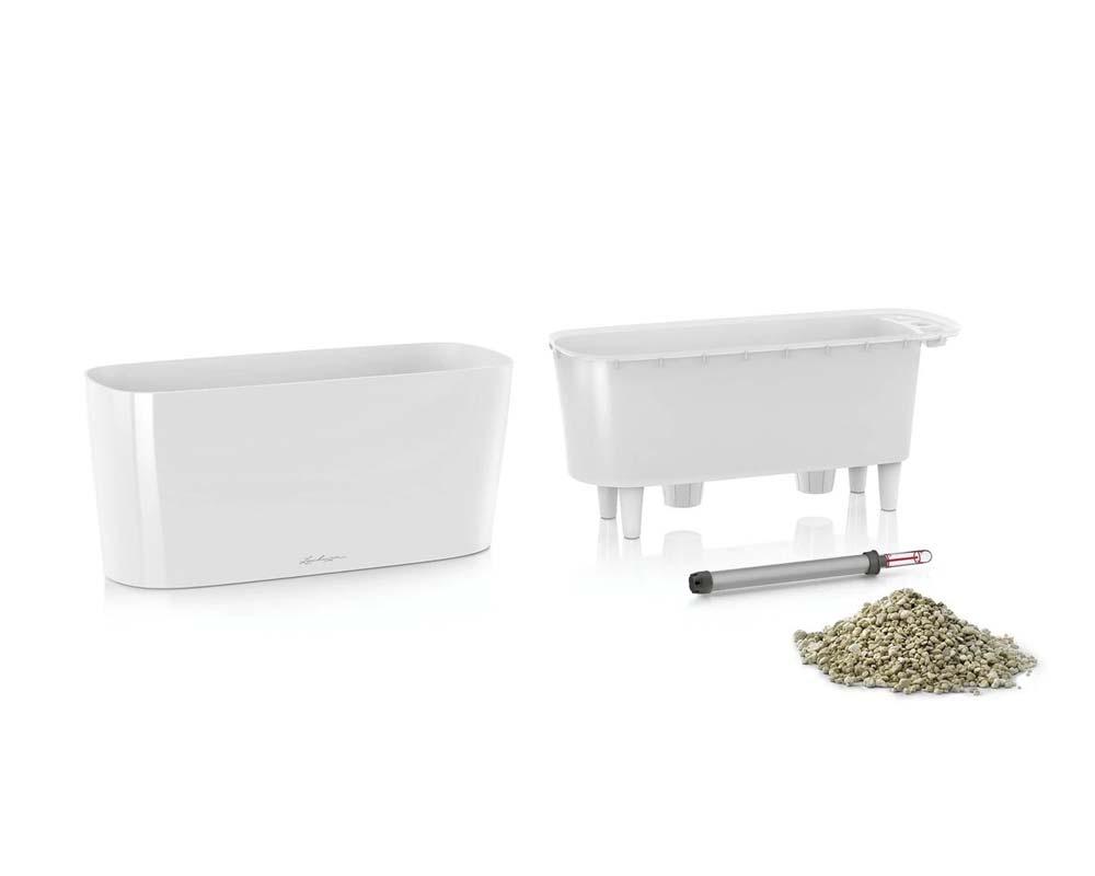 High Gloss White - Components - Delta 10 Self-Watering Pot - Lechuza