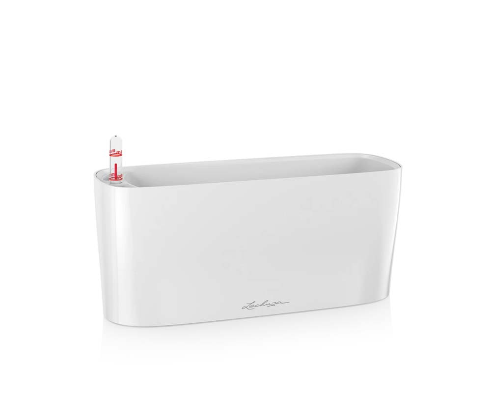 High Gloss White - Delta 10 Self-Watering Pot - Lechuza