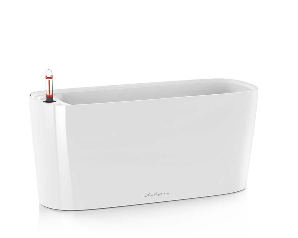 High Gloss White - Delta 20 Self-Watering Pot - Lechuza