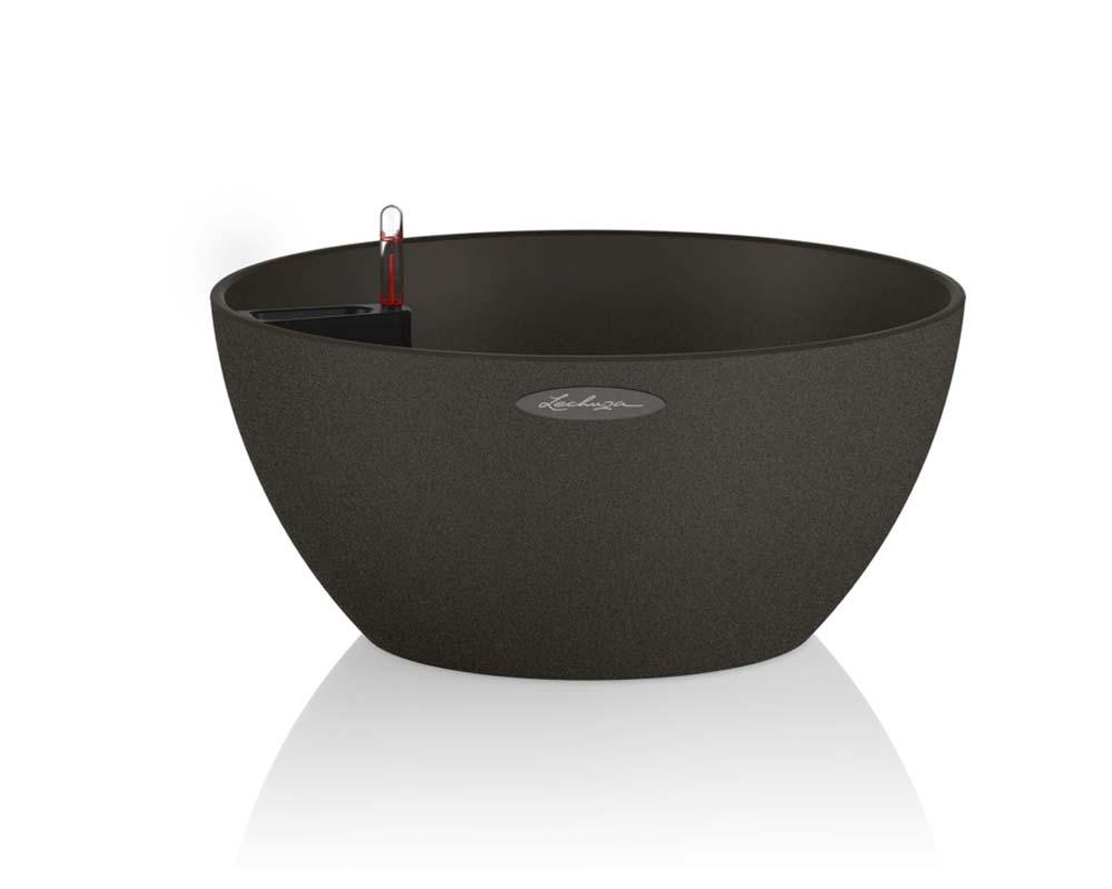 Graphite Black - Cubeto Stone 30 - Self-Watering Pot - Lechuza
