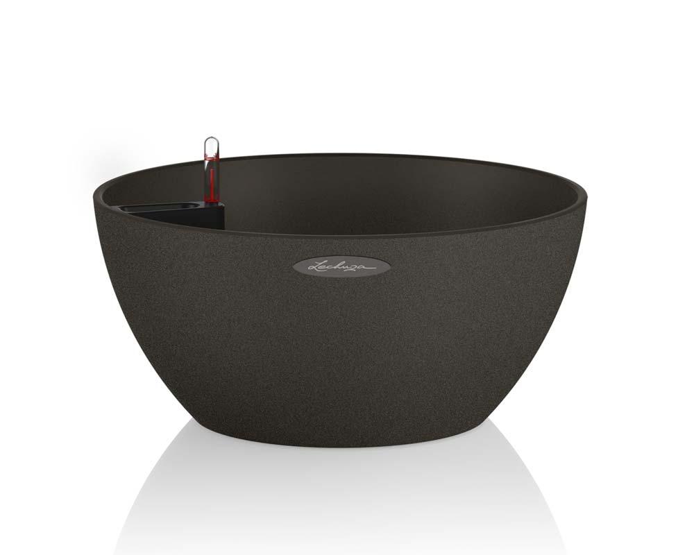 Graphite Black - Cubeto Stone 40 - Self-Watering Pot - Lechuza