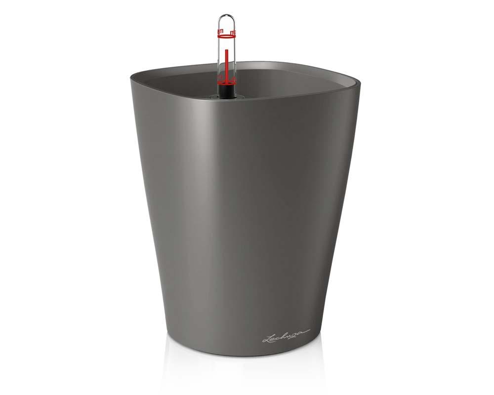 Metallic Charcoal - Deltini - Self-Watering Pot - Lechuza