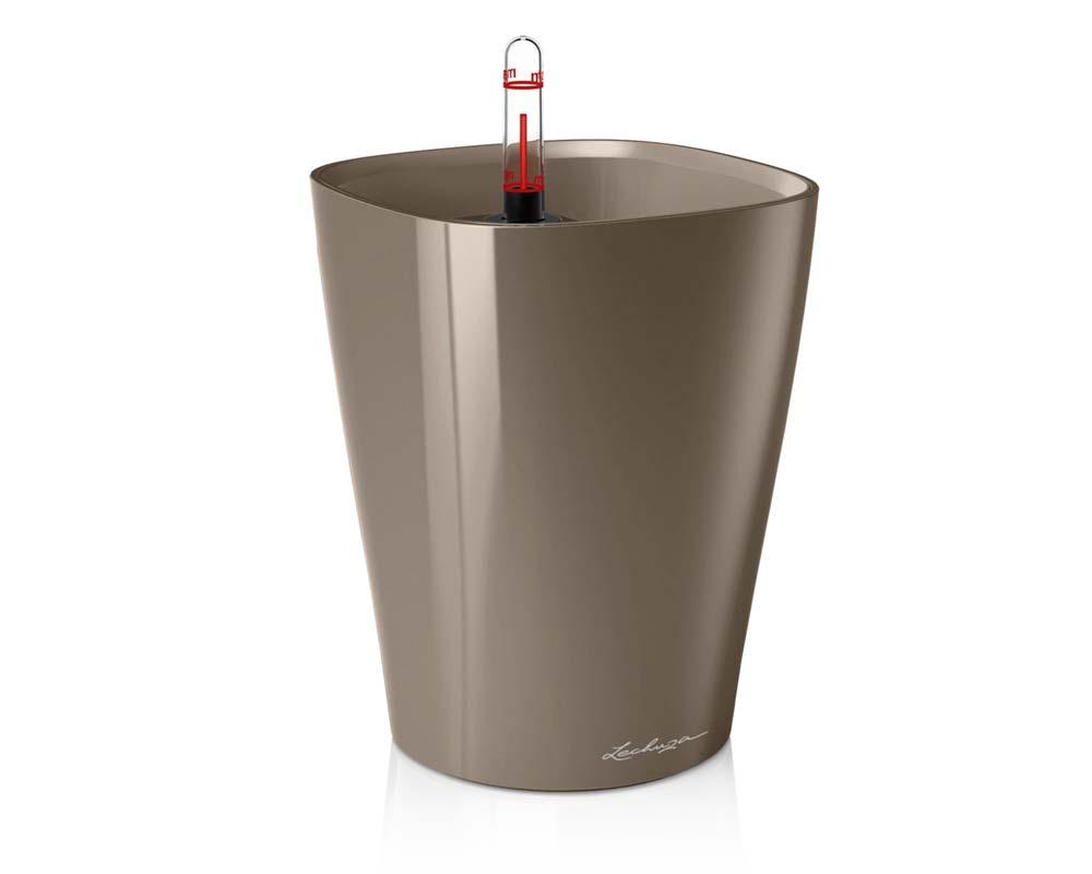 High Gloss Taupe - Deltini - Self-Watering Pot - Lechuza