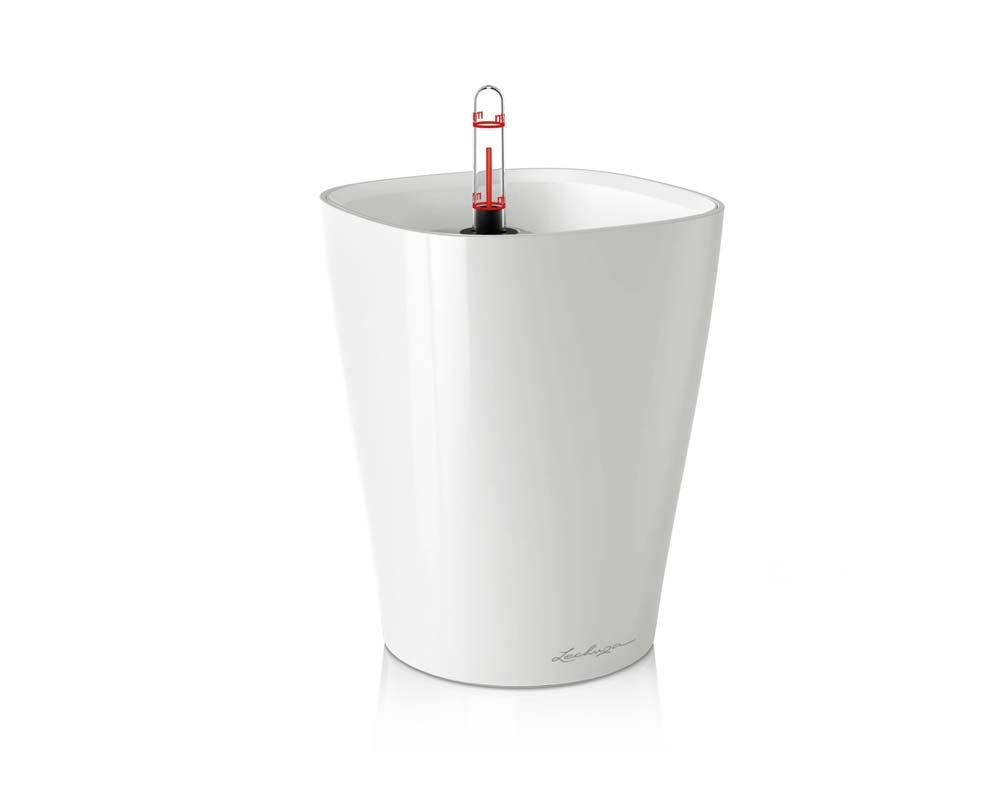 High Gloss White - Deltini - Self-Watering Pot - Lechuza