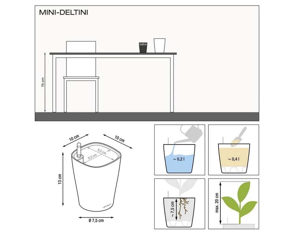 Diagram - Mini Deltini - Self-Watering Pot - Lechuza