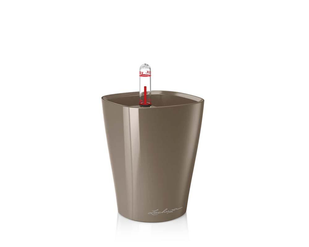 High Gloss Taupe - Mini Deltini - Self-Watering Pot - Lechuza