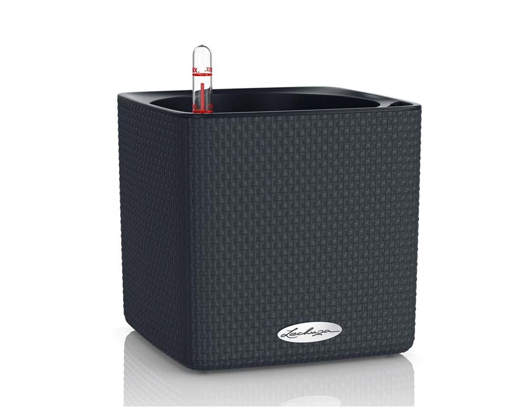 Slate - Puro Cube Color 16 - Self-Watering Pot - Lechuza