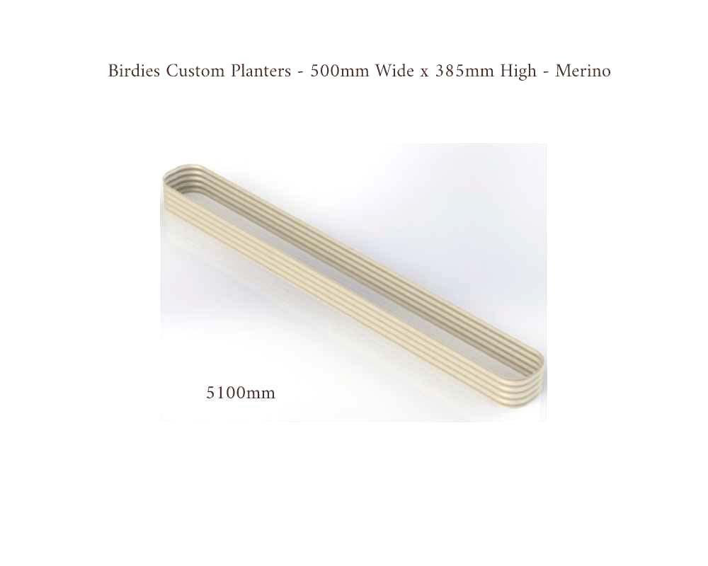 Birdies Custom Planters - 500mm Wide x 385 High - Length: 5100mm - Merino