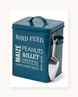 Bird Feed Tin and Scoop