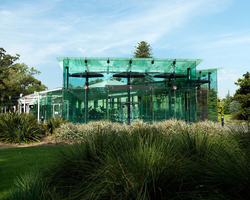 The Waterlilly Pavillion - photo supplied by Adelaide Botanic Garden