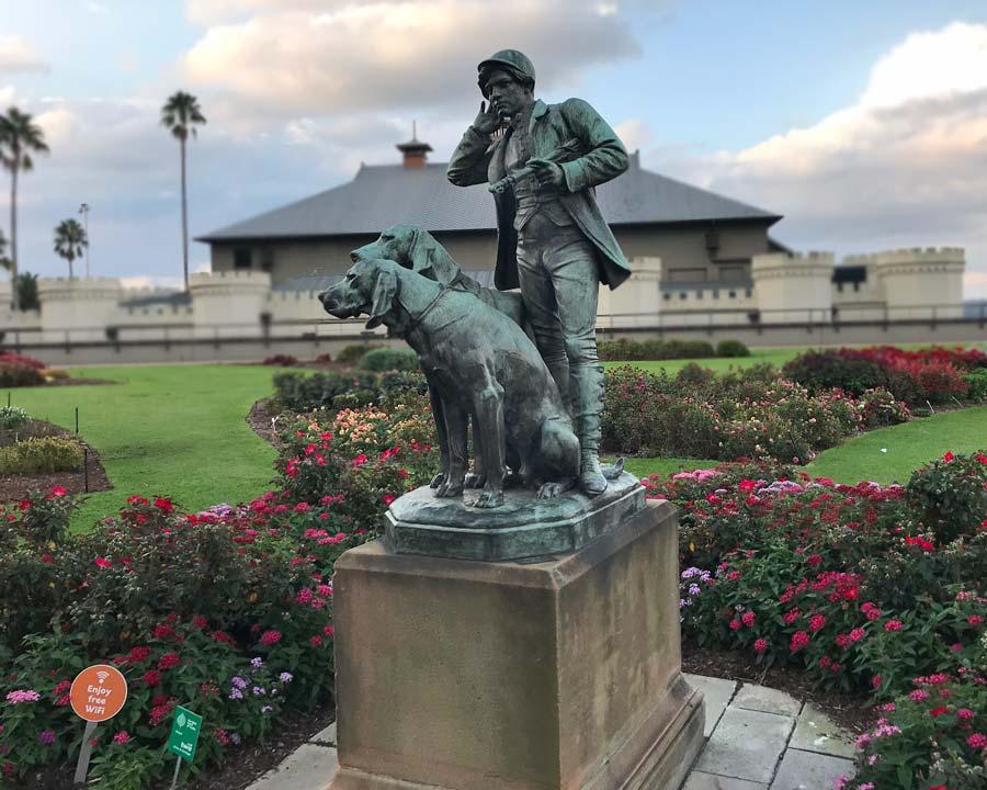 Boy / Dog Statue, Sydney Botanic Gardens